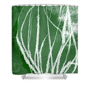 Agave- Abstract Art By Linda Woods Shower Curtain
