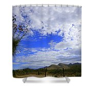 Agave And The Mountains Shower Curtain