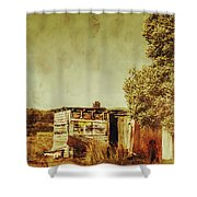 Aged Australia Countryside Scene Shower Curtain