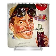 Aged Coca Cola Ad Shower Curtain