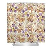 Aged Flower Clown Pattern Shower Curtain