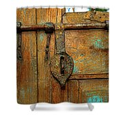 Aged Latch Shower Curtain