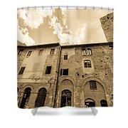 Aged San Gimignano Shower Curtain
