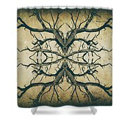 Aged Sepia Tree Dual Shower Curtain