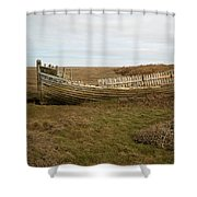 Aged Skeleton Shower Curtain