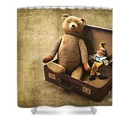 Aged Toys Shower Curtain