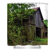 Aged Wood Barn Shower Curtain