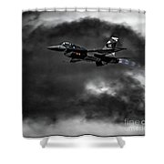 Aggressor #pacafdemo Viper Screaming Under Clouds Shower Curtain