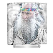 Aging Boomer Shower Curtain