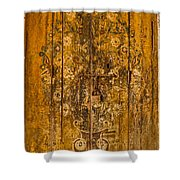 Aging Decorative Door Shower Curtain