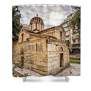 Agios Eleftherios Church Shower Curtain by James Billings