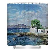 Agios Ioannis Beach, Mykonos Greece Shower Curtain