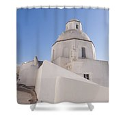 Agios Minas Santorini Shower Curtain