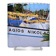 Agios Nikolaos Shower Curtain