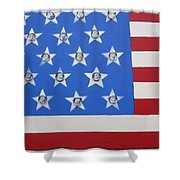 Agitate Shower Curtain by Otis L Stanley