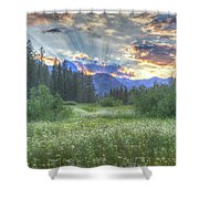 Agnew's Sunset Shower Curtain