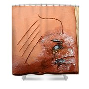 Agonise - Tile Shower Curtain