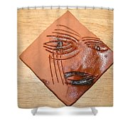 Agony - Tile Shower Curtain