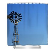Agricultural Windmill Shower Curtain