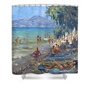 Agrilesa Beach Athens  Shower Curtain