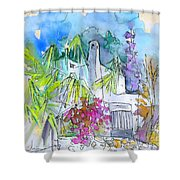 Agua Amarga 02 Shower Curtain