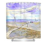 Agua Amarga 03 Shower Curtain