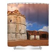 Aguada Fort Goa Shower Curtain