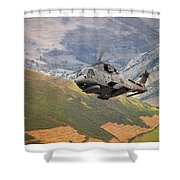 Agusta Merlin Flies The Loop  Shower Curtain