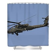 Ah-64 Apache In Flight Over The Baghdad Shower Curtain