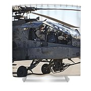 Ah-64d Apache Longbow Pilot Prepares Shower Curtain