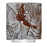 Ahead - Tile Shower Curtain