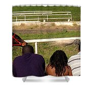 Ahead By Two Lengths Shower Curtain