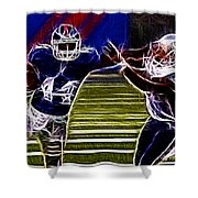 Ahmad Bradshaw Shower Curtain by Paul Ward