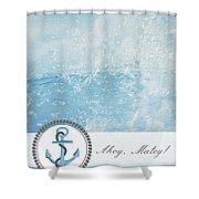 Ahoy Matey Shower Curtain