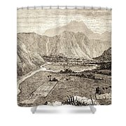Ahuapuaa Lithograph Shower Curtain