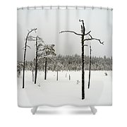 Ahvenlammi 10 Shower Curtain