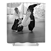 Aikido Wrist Lock  Shower Curtain