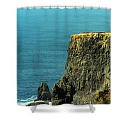 Aill Na Searrach Cliffs Of Moher Ireland Shower Curtain