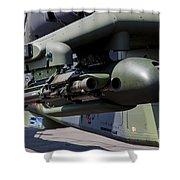 Aim-92 Stinger Weapon And Gunpod Shower Curtain