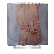 Aimee Shower Curtain by Jerrold Carton