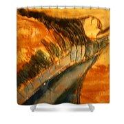 Air - Tile Shower Curtain