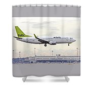Air Baltic Boeing 737-300 Shower Curtain