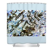 Air Bubbles Underwater - Abstract Shower Curtain