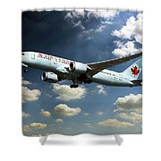 Air Canada 787 Dreamliner Shower Curtain