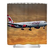 Air Canada Rouge Boeing 767-333 2 Shower Curtain