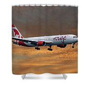 Air Canada Rouge Boeing 767-333 3 Shower Curtain