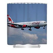 Air Canada Rouge Boeing 767-333 4 Shower Curtain