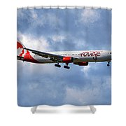 Air Canada Rouge Boeing 767-35h 118 Shower Curtain