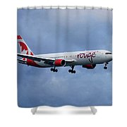 Air Canada Rouge Boeing 767 Shower Curtain