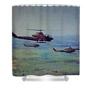 Air Cav Shower Curtain